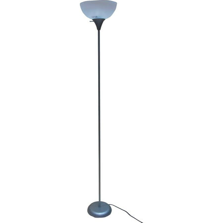 "Mainstays 71"" Floor Lamp, Silver"