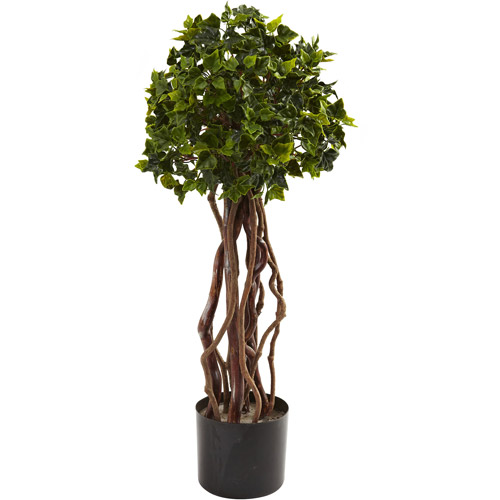 Nearly Natural 2-1/2' English Ivy Topiary, UV Resistant, Indoor and Outdoor