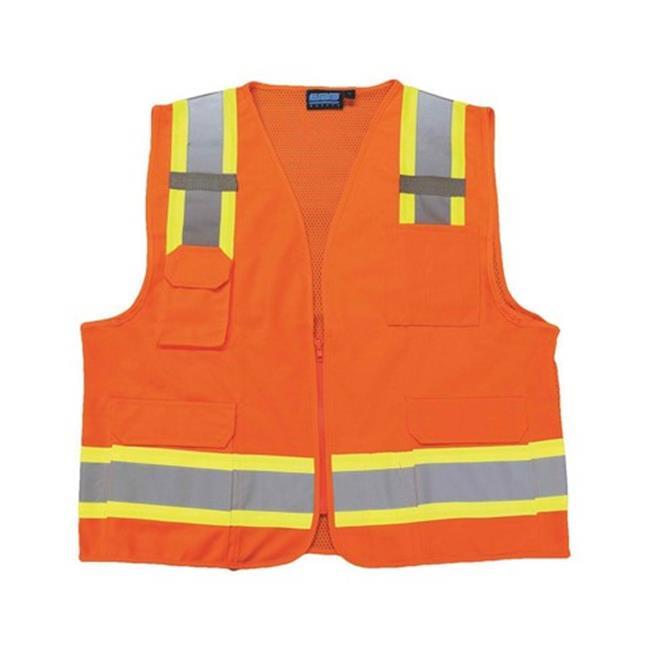 Portwest US380 Large Hi-Visibility Tampa Mesh Vest, Orange - Regular