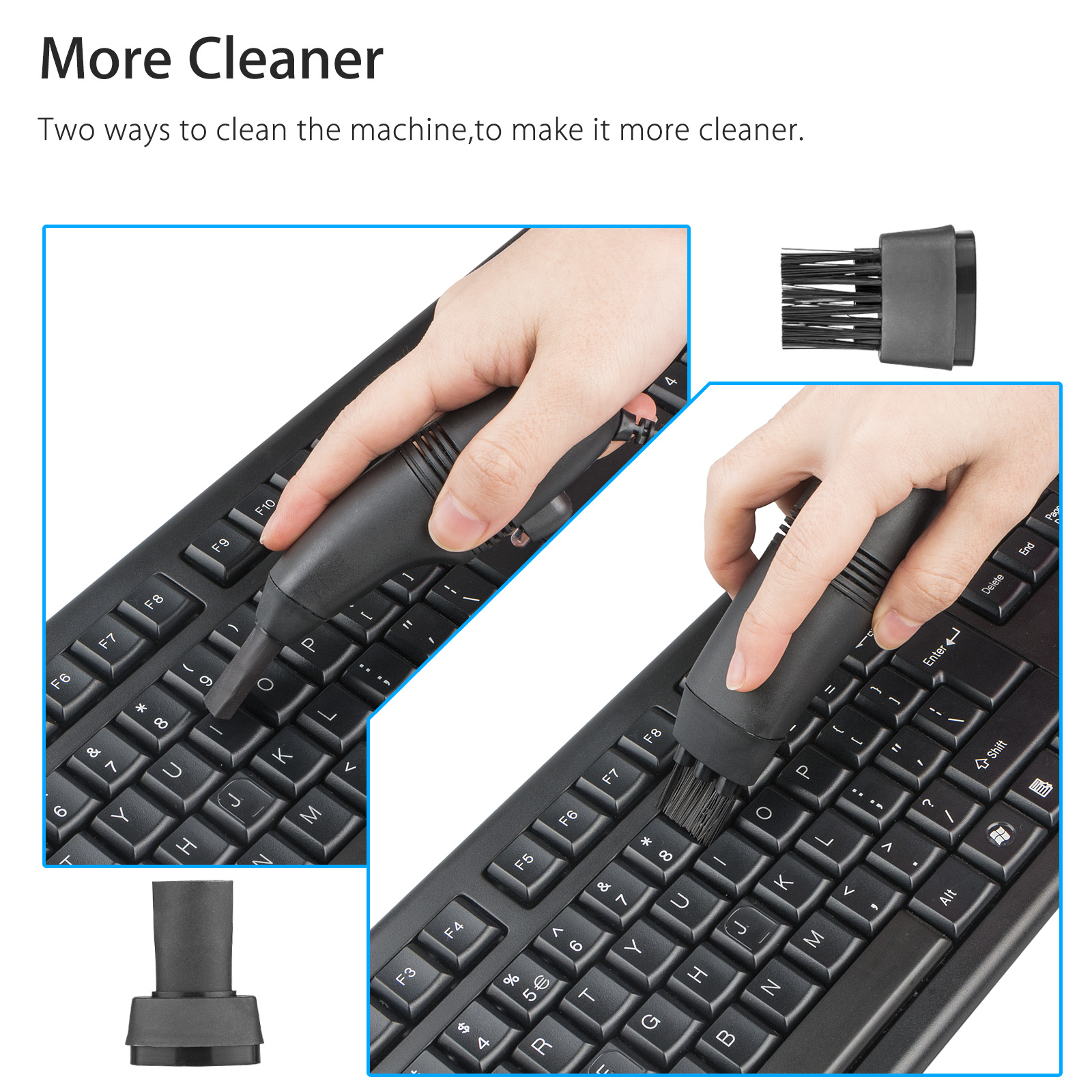 Mini Computer Vacuum Keyboard Cleaner PC Laptop Brush Dust Cleaning Kit Computer Vacuums