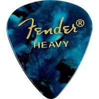 Fender 351 Premium Celluloid Guitar Picks 12-Pack - Ocean Turquoise - Heavy