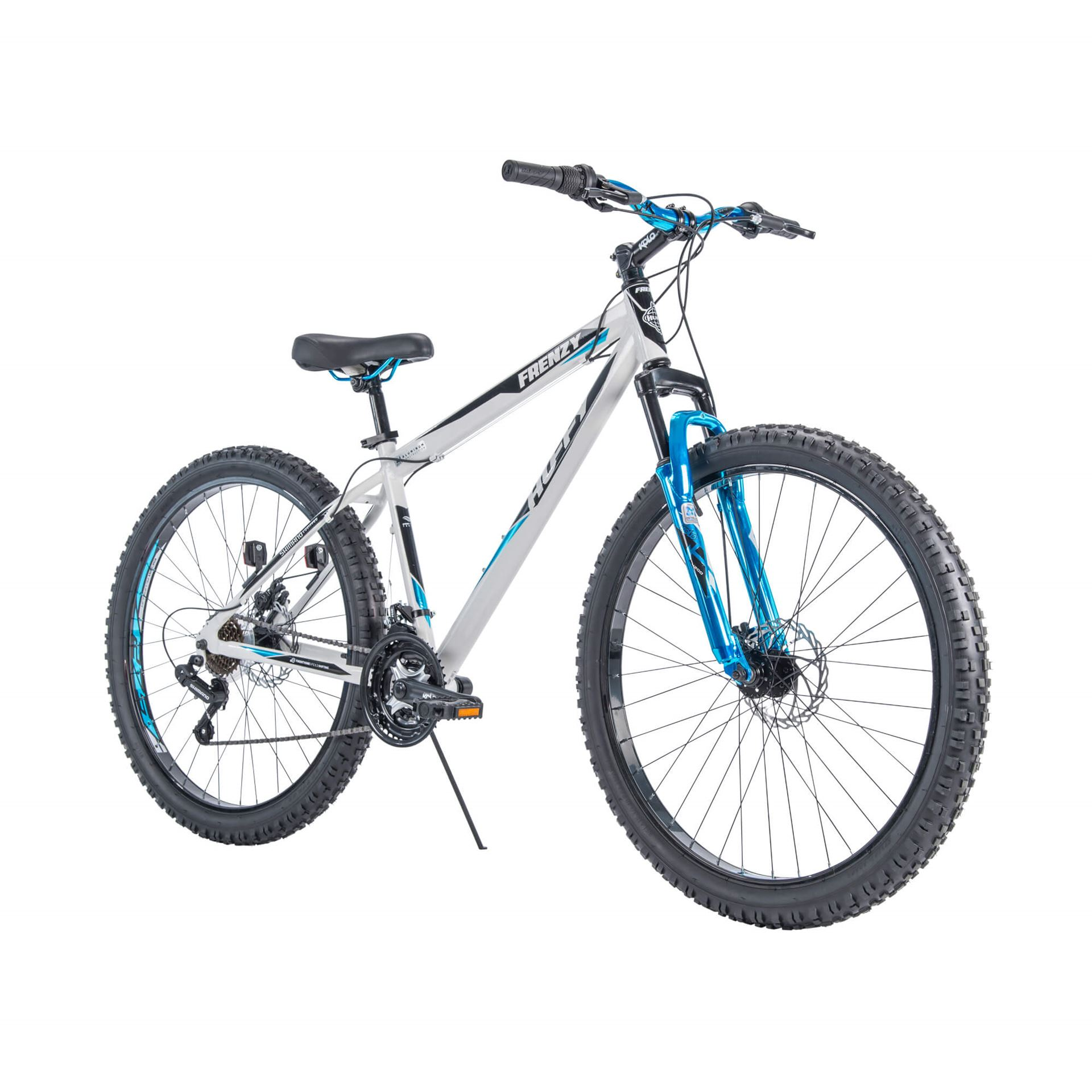 "Huffy 27.5"" Frenzy Mens Mountain Bike with Aluminum Frame, Blue"