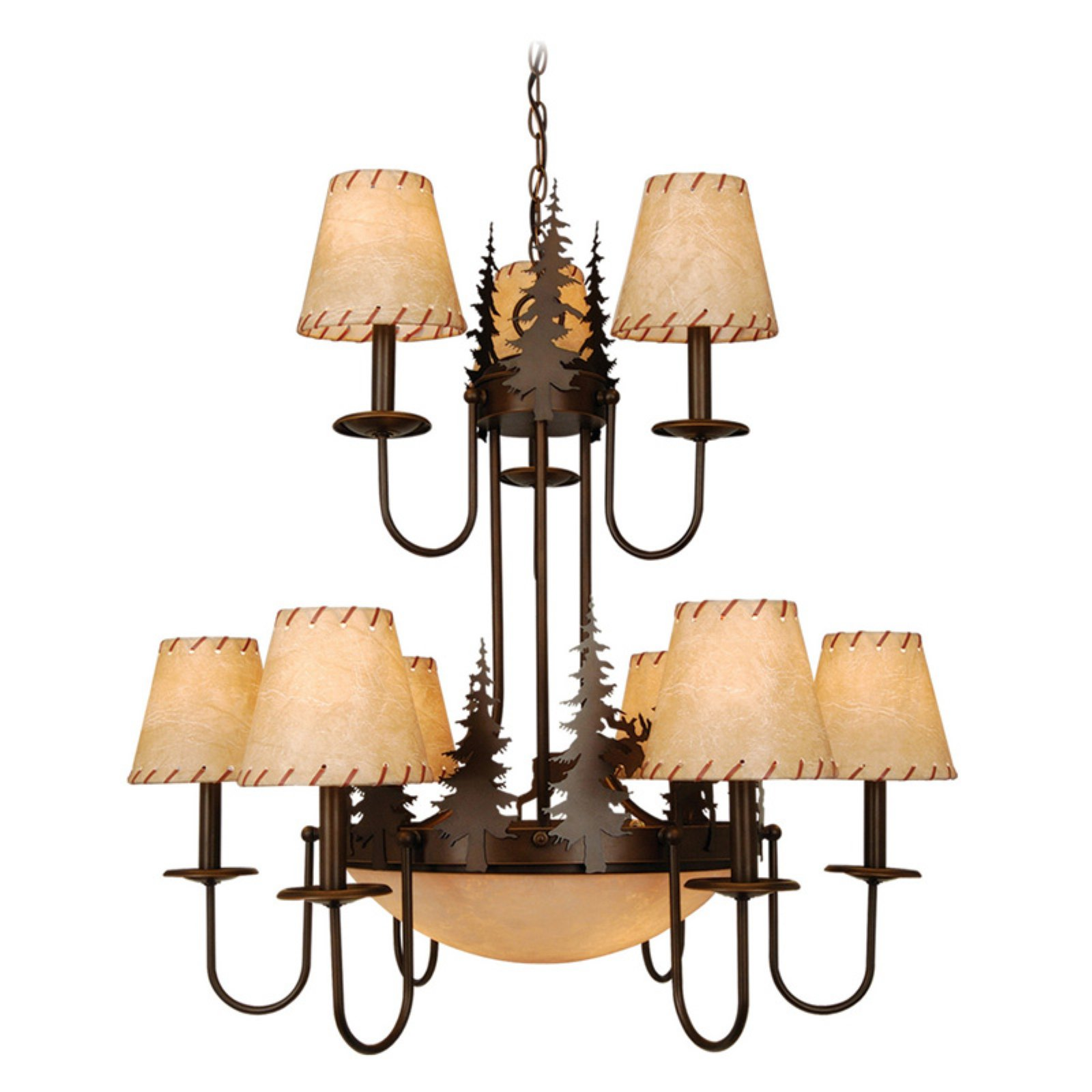 Vaxcel Yellowstone CH55609BBZ Chandelier