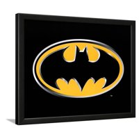 Batman Logo Art Poster Print Framed Art Print Wall Art  - 18x22
