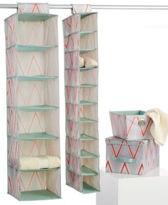4 piece Coral closet storage set Macbeth Collection by Margaret