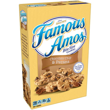 (2 Pack) Famous Amos Bite Size Chocolate Chip & Pecans Cookies, 12.4 oz](Halloween Spider Chocolate Chip Cookies)