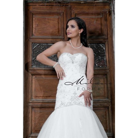 279ea84d6bd Rich ivory formal gown from Milano formals  AA9315 - Walmart.com