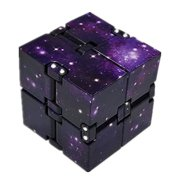 KABOER 1PCS Infinity Cube Unlimited Folding Stress Fidget Toys For Autism Anxiety Relief Kids Adult(purple)
