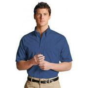 Ed Garments Men's Easy Care Short Sleeve Poplin Shirt, Royal, Large