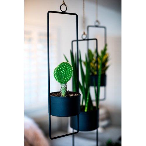 Ebern Designs Adam Upright Metal Hanging Planter