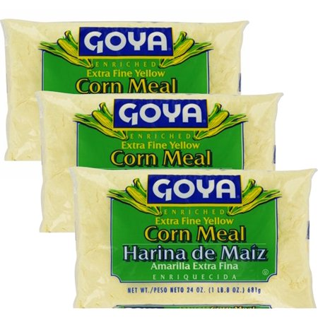 Goya Enriched Corn Meal Extra Fine Yellow, 24 oz (Pack of 3)