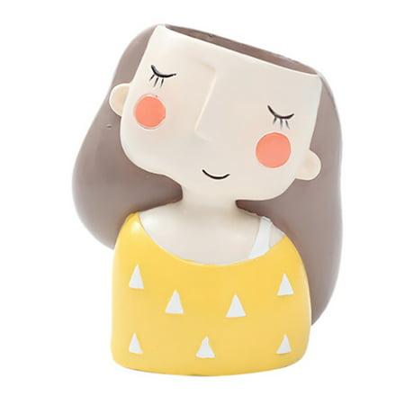 Cute Girl Style Ceramic Succulent Pots, Field Snail Flowerpot, Sea Snail Cactus Bonsai Planter (Bonsai Container)