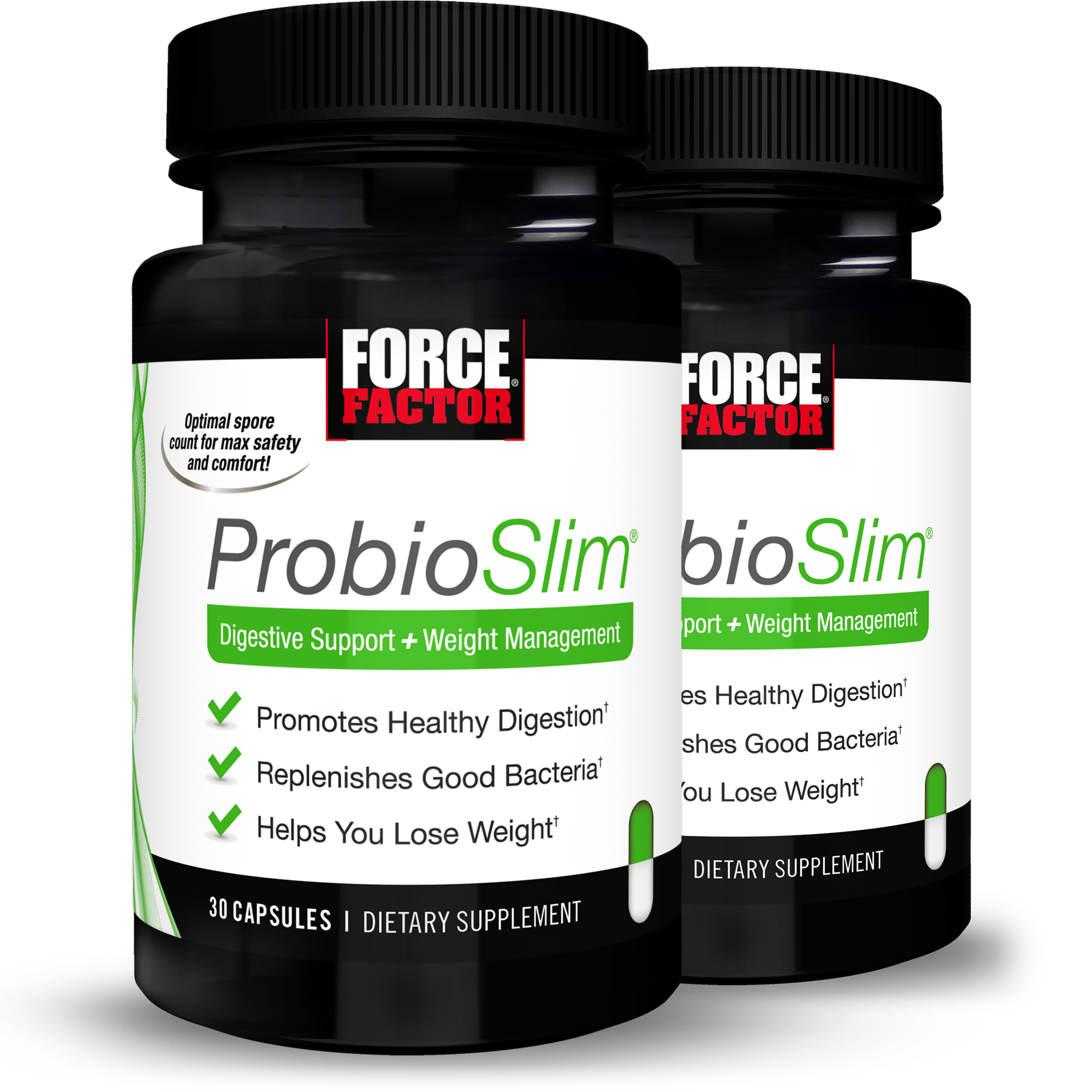 Force Factor ProbioSlim Probiotic Supplement + Weight Loss Capsules, 30ct