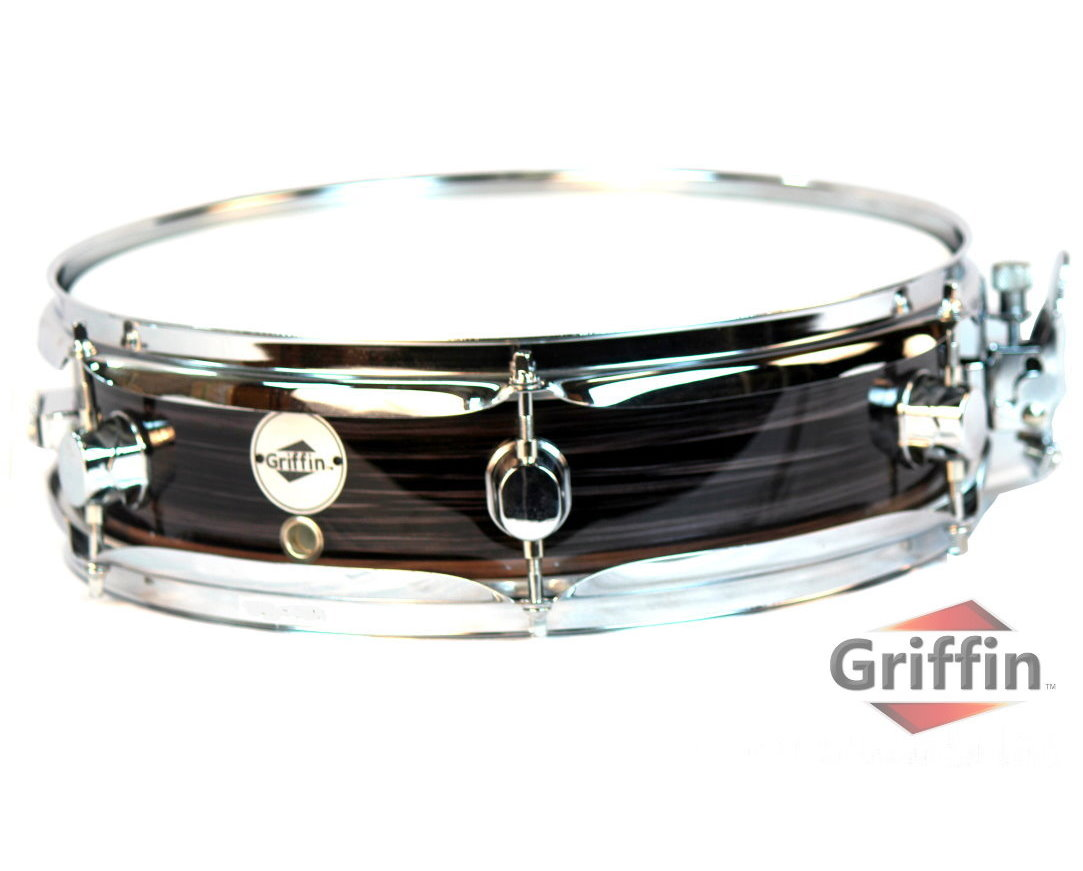 """Griffin Piccolo Snare Drum 13"""" x 3.5"""" Wood Shell Zebral Finish Percussion Poplar by Griffin"""