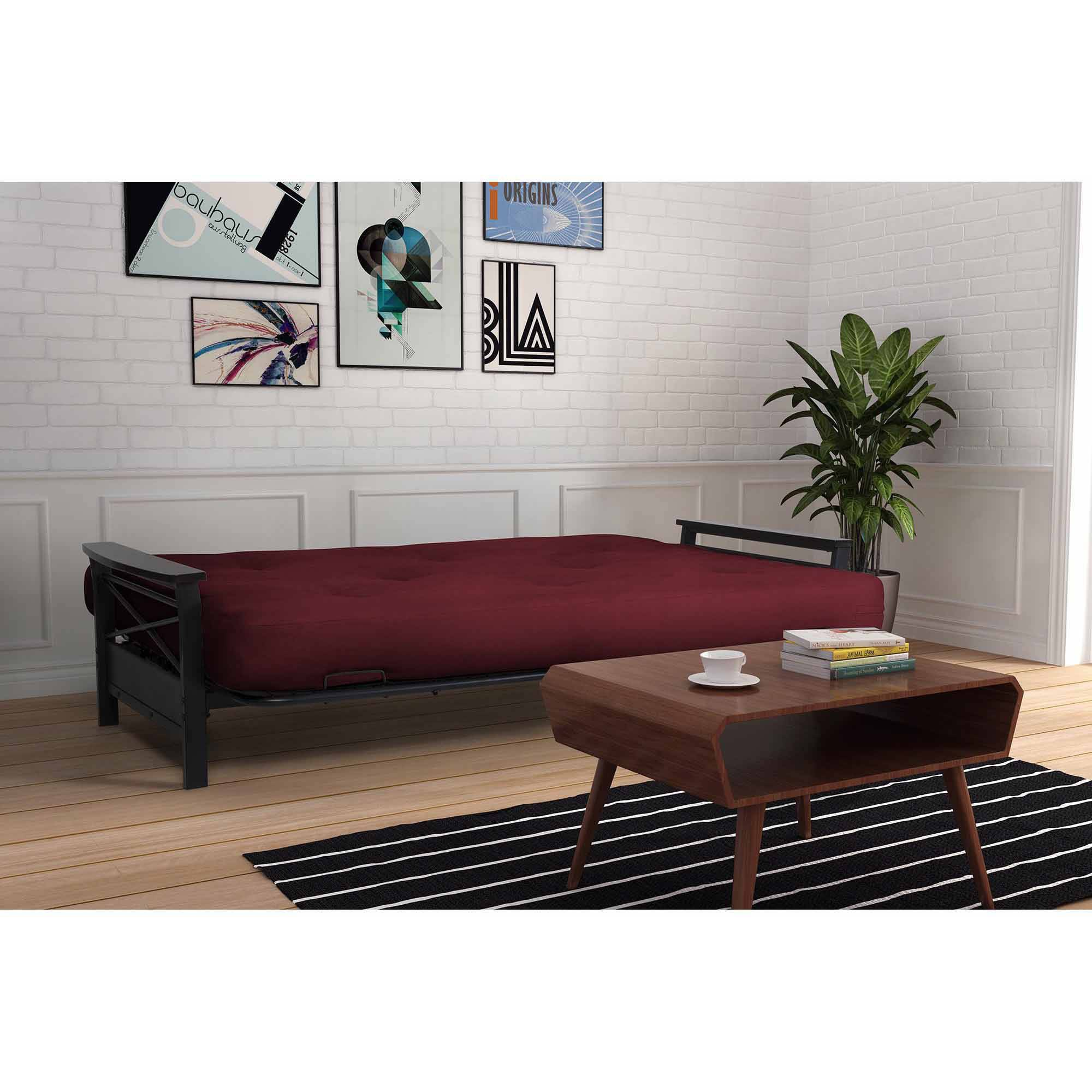 Alessa Futon Frame With 6 Innerspring Full Mattress Com