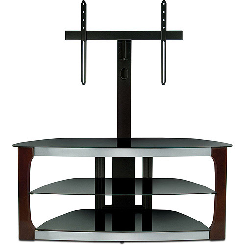 "Bello Triple Play Flat Panel 3-in-1 TV Stand for TVs up to 52"", Espresso"