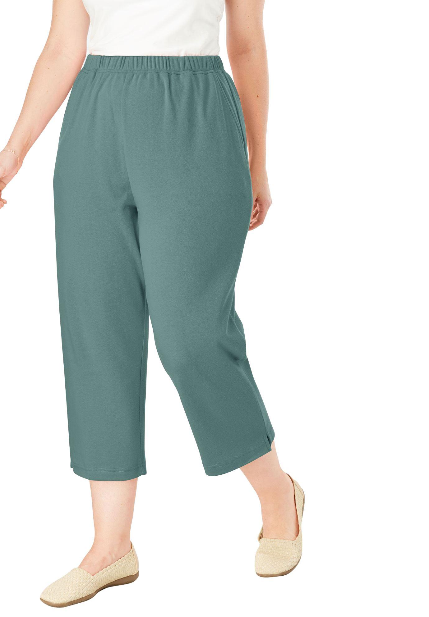 Woman Within Plus Size 7-day Knit Capri