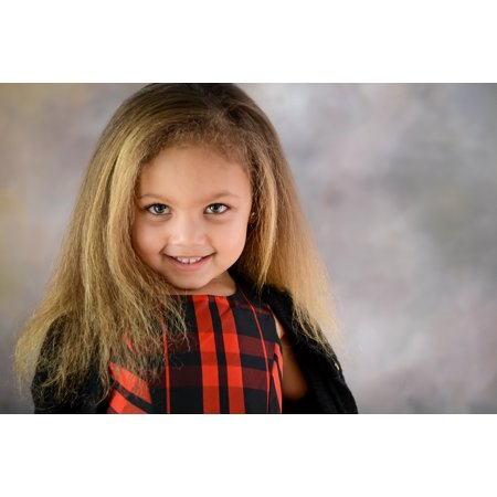 Laminated Poster Portrait Female Caucasian Young Girl Smile Hair Poster Print 11 x