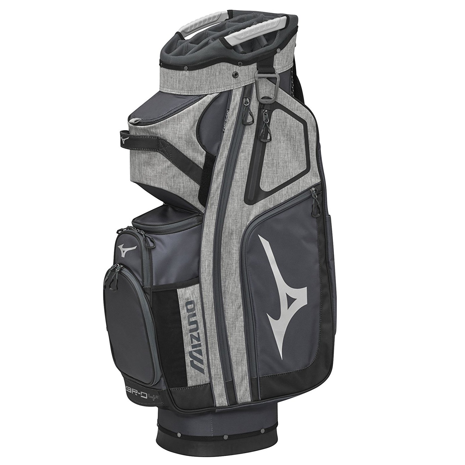 Mizuno BR-D4C Golf Cart Bag, Grey/Black