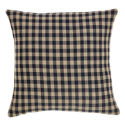 Black Check Pillow Cover Fabric 16x16