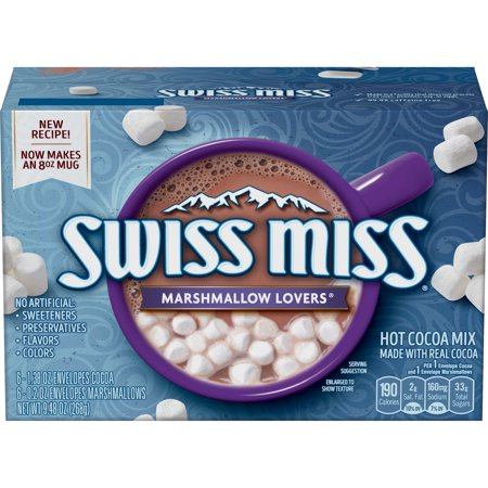 (8 Pack) Swiss Miss Marshmallow Lovers Hot Cocoa Mix Envelope, 6 count