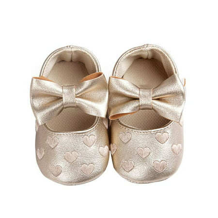 Babula Baby Girl Crib Shoes Bowknot Soft Sole Anti-slip Shoes 0-18M