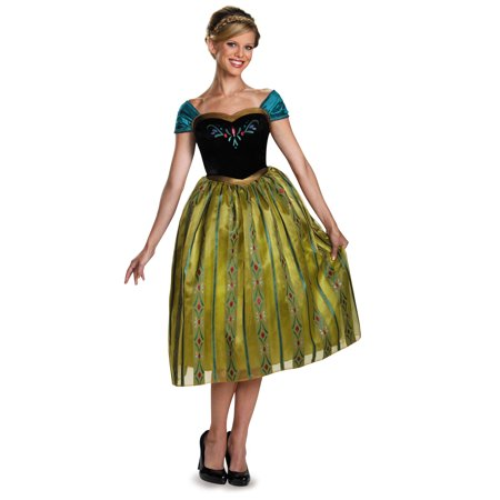 Adult Frozen Anna Coronation Deluxe Costume includes dress by Disguise 83159 - Anna Deluxe Costume
