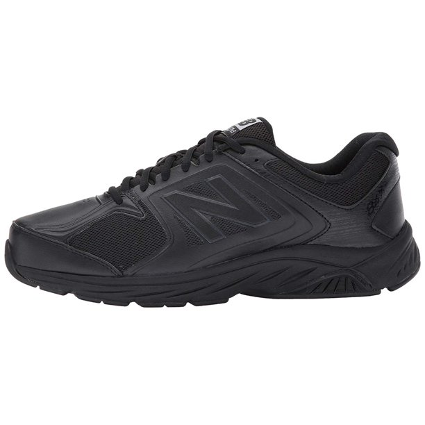 new balance men's mw577 black walking shoe - 11 4e us