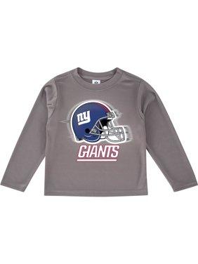 Toddler Gray New York Giants Team Logo Long Sleeve T-Shirt