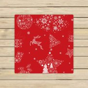 GCKG Christmas Towels,Xmas Merry Christmas Reindeer Red Beach Bath Towels Bathroom Body Shower Towel Bath Wrap For Home,Outdoor and Travel Use Size 30x56 inches