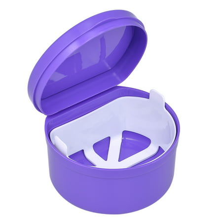 1Pc Denture Box Denture Case Dental False Teeth Cleaning Box Denture Bath Container Retainer Denture Holder ()