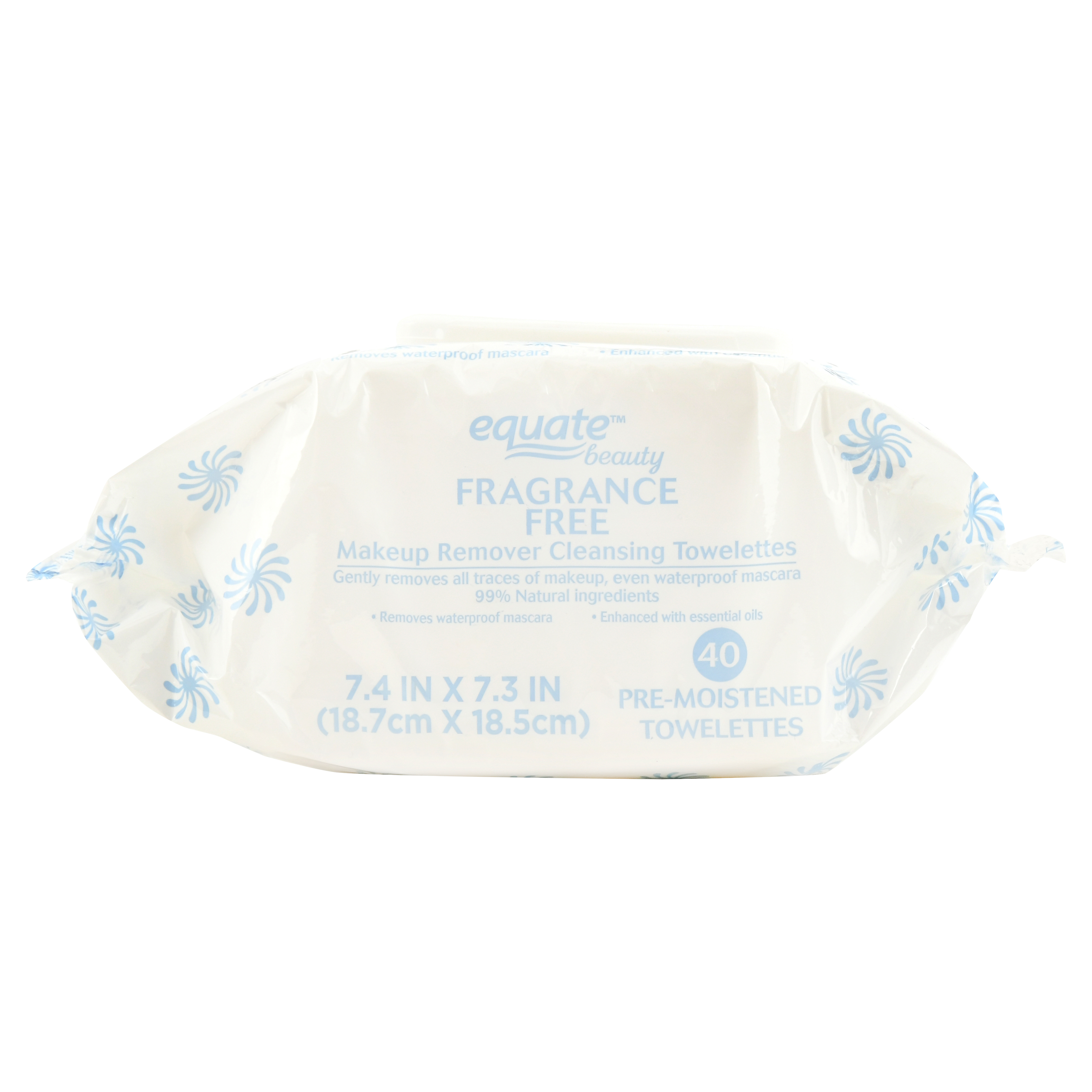 Equate Beauty Fragrance Free Makeup Remover Towelettes, 40 Ct