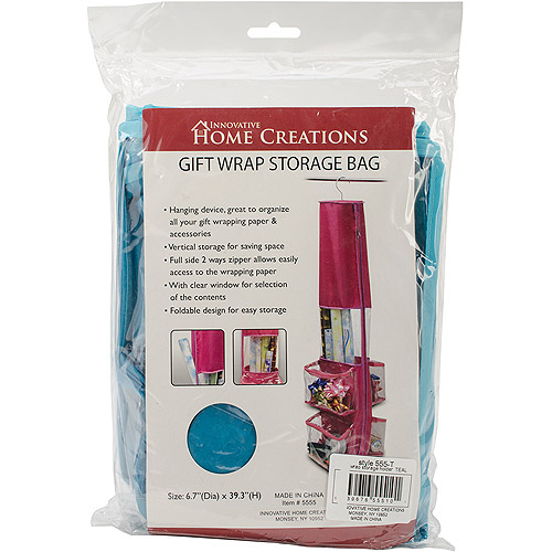 Gift Wrap Storage Holder, Teal