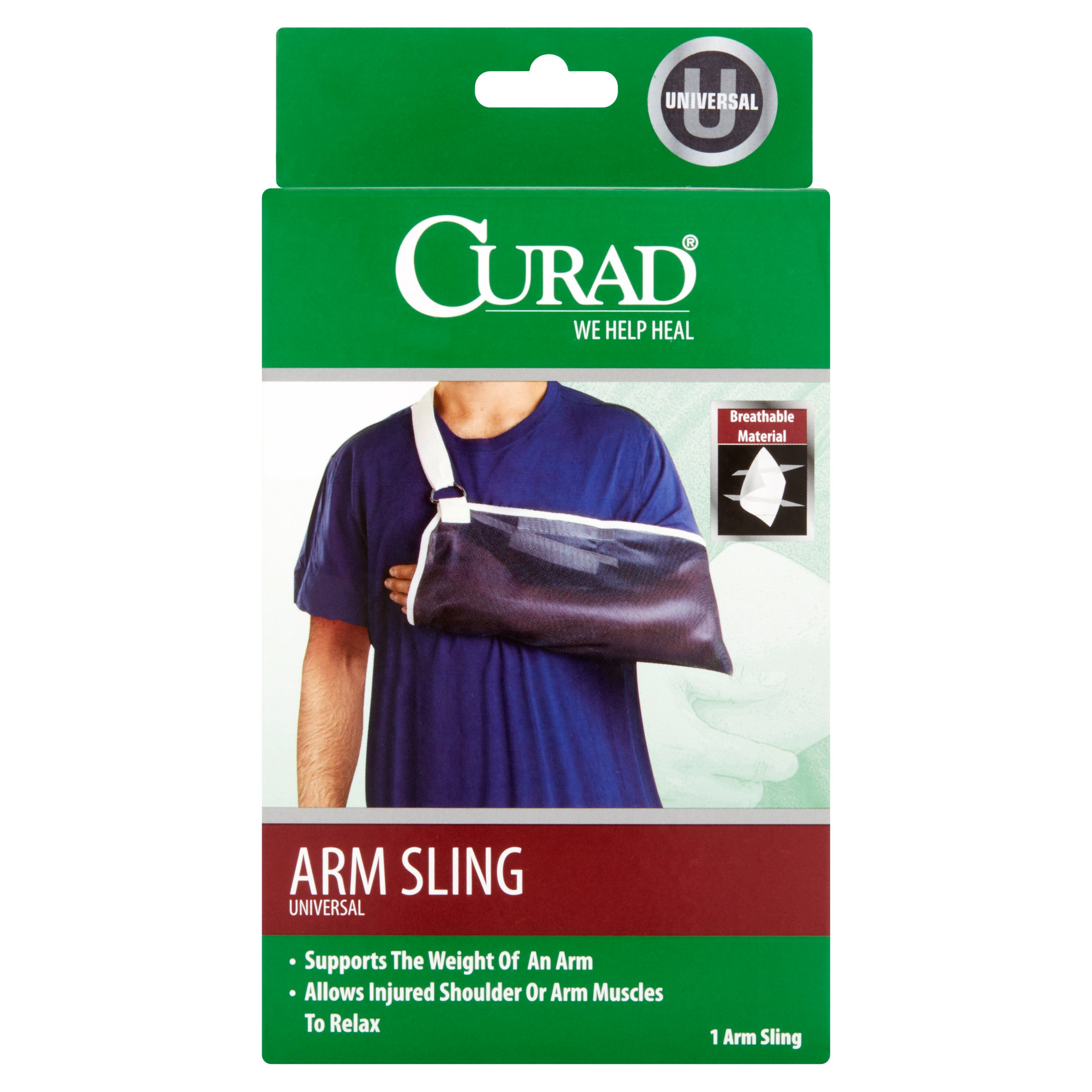 Curad Universal Arm Sling with breathable fabric 1CT