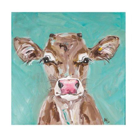 Pink Nosed Cow Print Wall Art By Molly