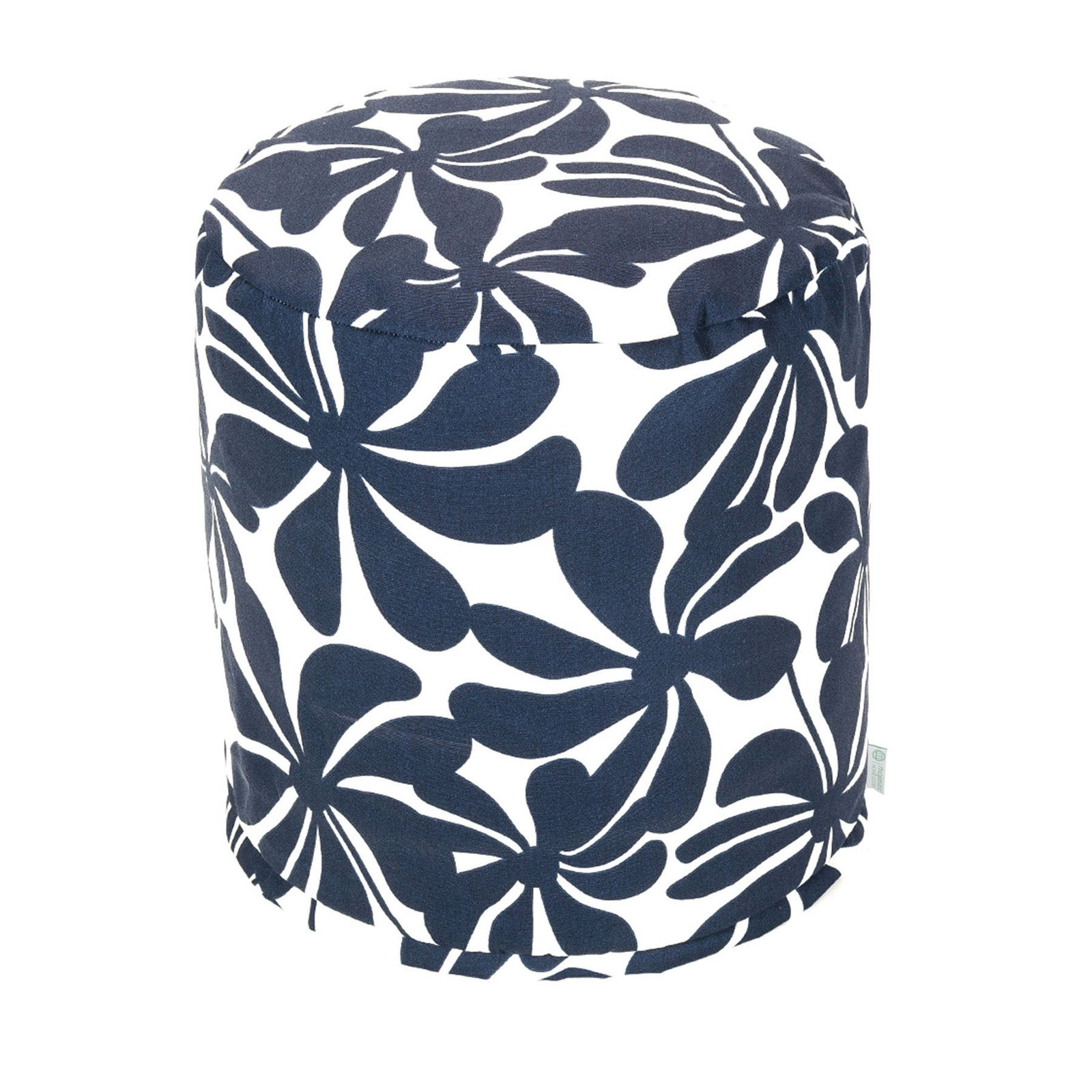 Majestic Home Goods 16 in. Round Outdoor Pouf