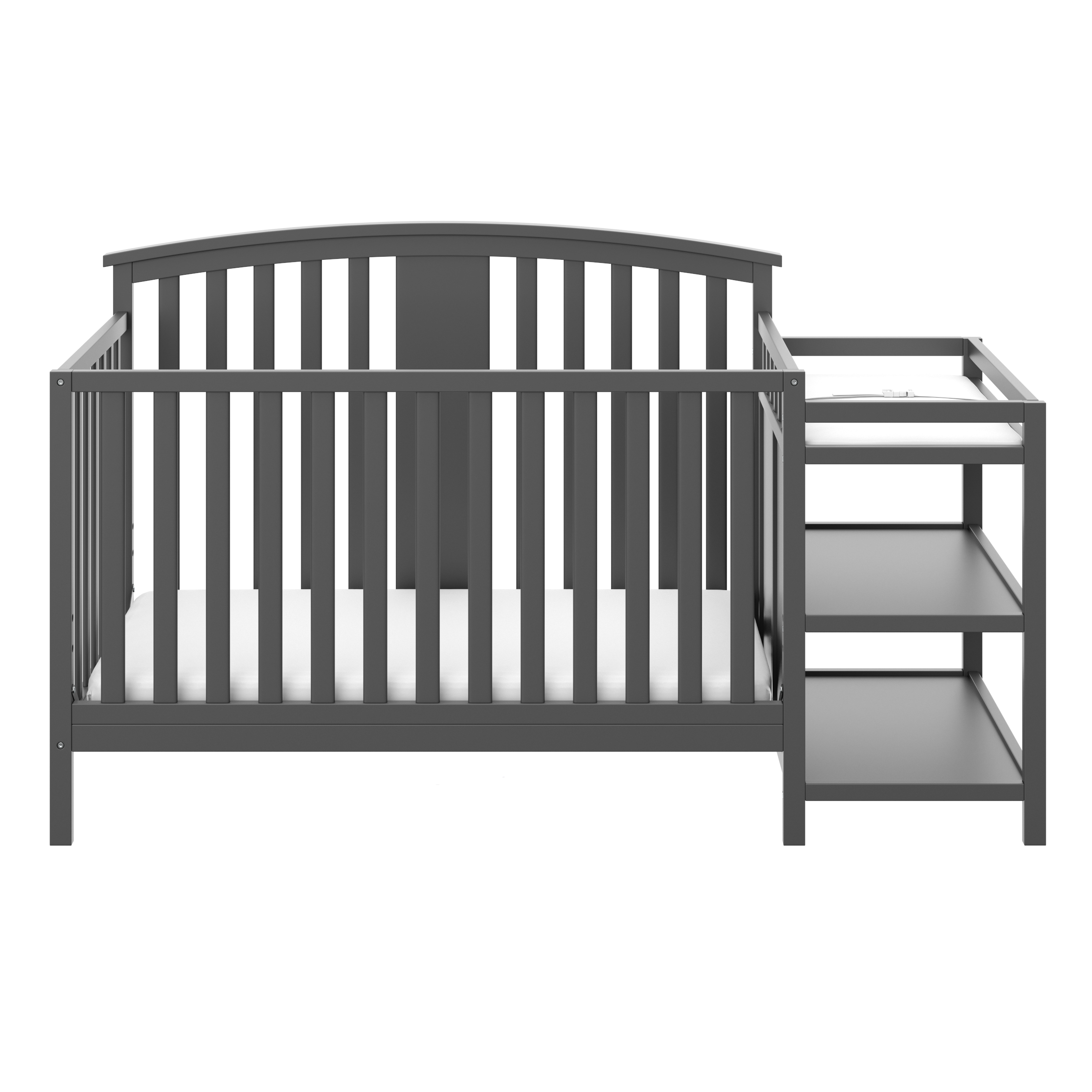 Storkcraft Greyson 4 in 1 Convertible Crib and Changer Gray
