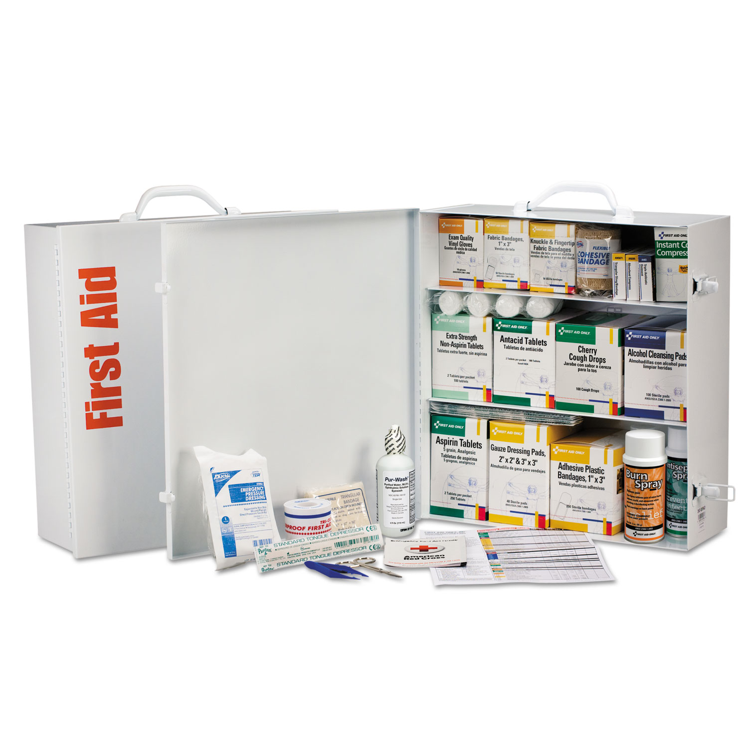 Industrial First Aid Station for 100 People, 1092-Pieces, OSHA, Metal Case