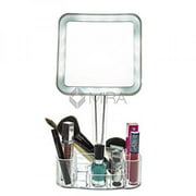 Daisi Magnifying Lighted Makeup Mirror   7X Magnification  LED Portable  Illuminated Bathroom Mirror   VanityVanity Mirrors. Mirror On A Stand Vanity. Home Design Ideas