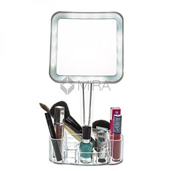 daisi magnifying lighted makeup mirror 7x led portable illuminated bathroom mirror vanity
