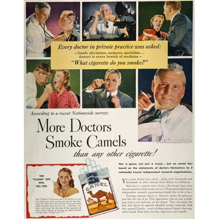 Camels Cigarette Ad C1950 NWhat Do You Smoke Doctor Advertisement For Camel Cigarettes From An