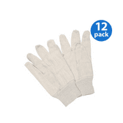 New 12 pair pack size L Off White Canvas Poly Cotton 8 Oz Gloves Style # US-CCG New 12 pair pack size L Off White Canvas Poly Cotton 8 Oz Gloves Style # US-CCG