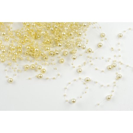 Canvas Print Deco Plastic Beads Artificial Pearls Decoration Stretched Canvas 10 x