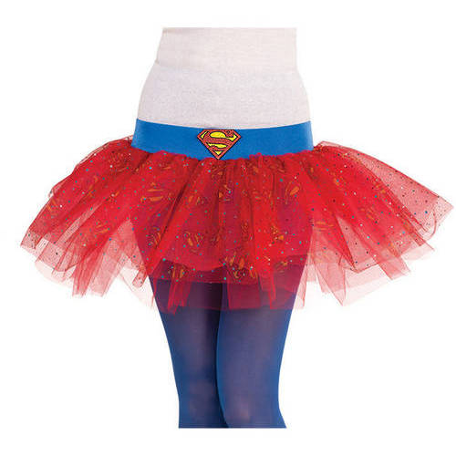 Supergirl Womens Tutu Skirt Halloween Costume Accessory