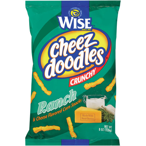Wise Crunchy Ranch & Cheese Cheez Doodles, 8 oz