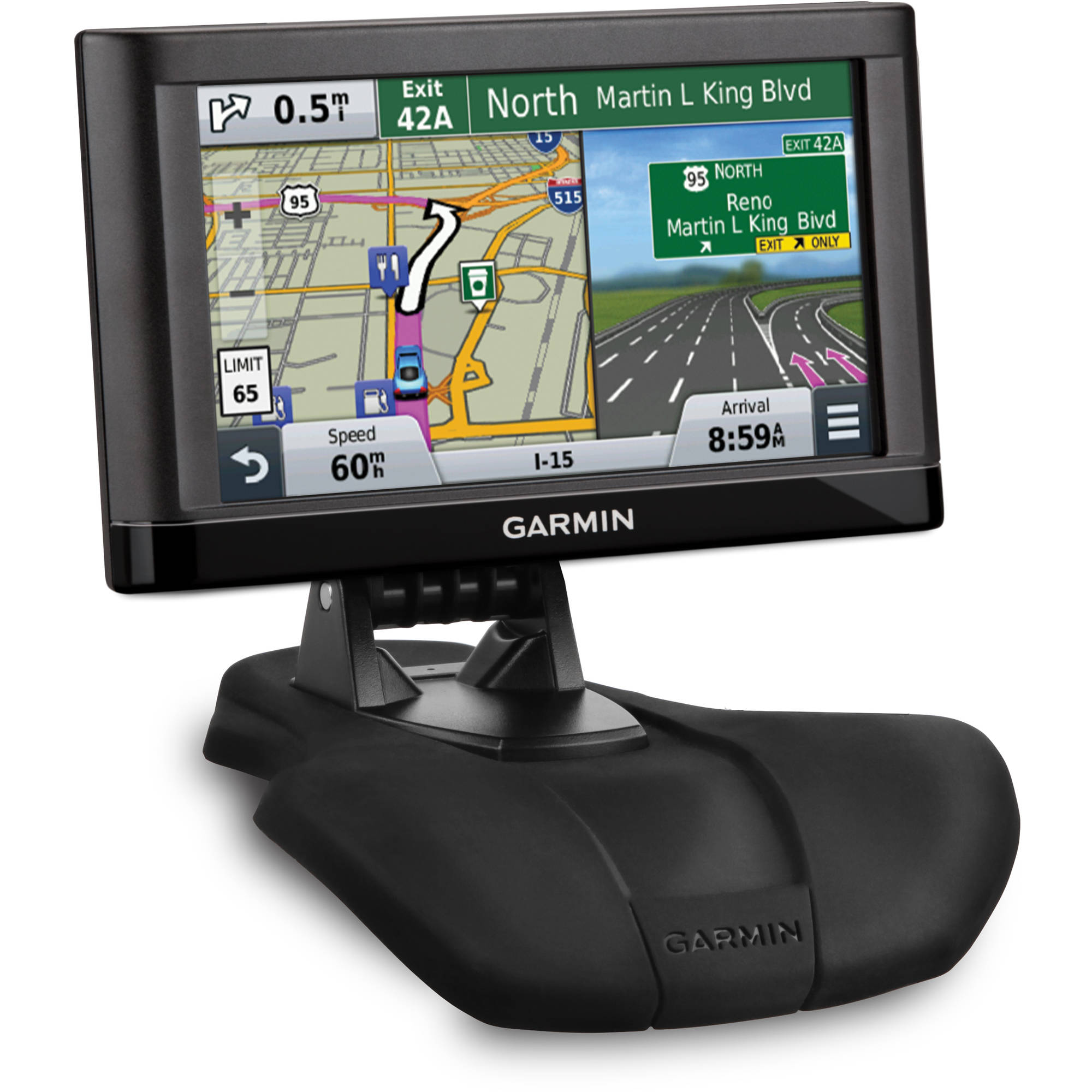 """Garmin nuvi 55LM 5"""" Screen GPS Navigation with Free Lifetime US Map Update Bundle with Car Mount"""