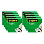 Scotch Magic Office Tape, 3/4 in x 800 in, Clear, 10 Refill Packs