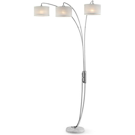 Ok Lighting Hydra Silver Polished Arch Lamp