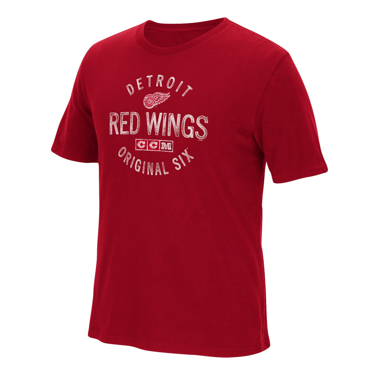 "Detroit Red Wings CCM ""Hit The Post"" NHL Distressed Men's Premium T-Shirt"