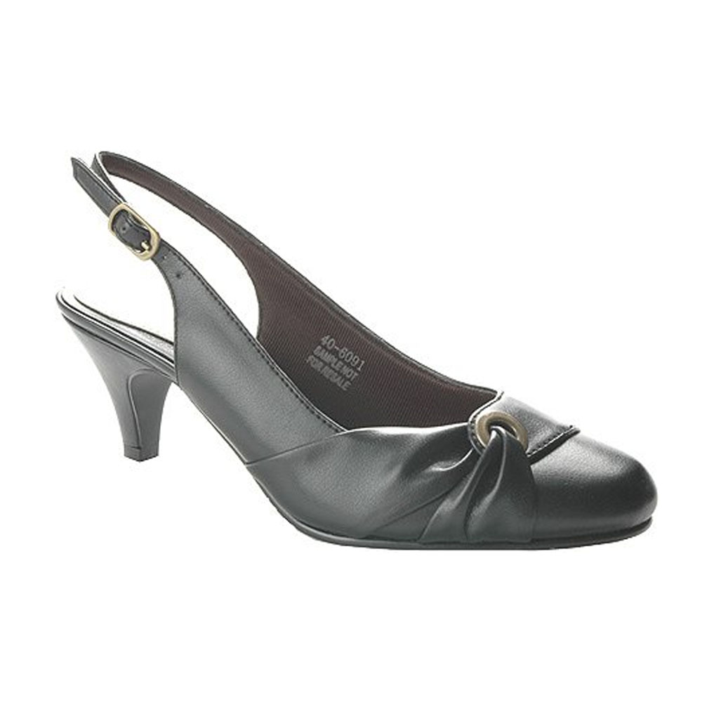 Easy Street Women's Camille Slingback Pump,Black,7 W by Easy Street